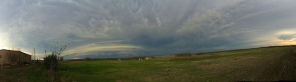 Supercell panorama with striations