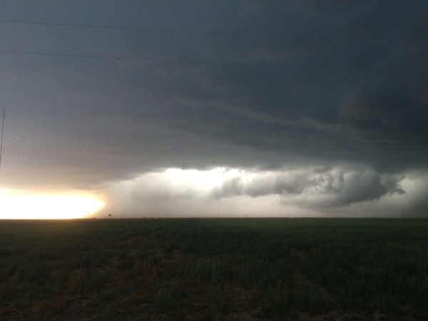 Gust front and core of a HP supercell