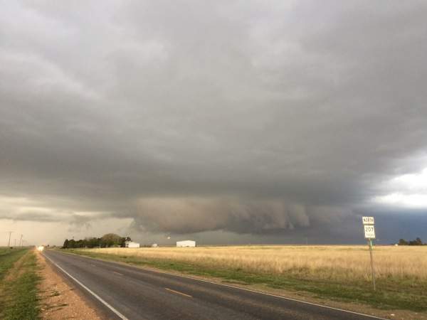 Gust front on a HP supercell