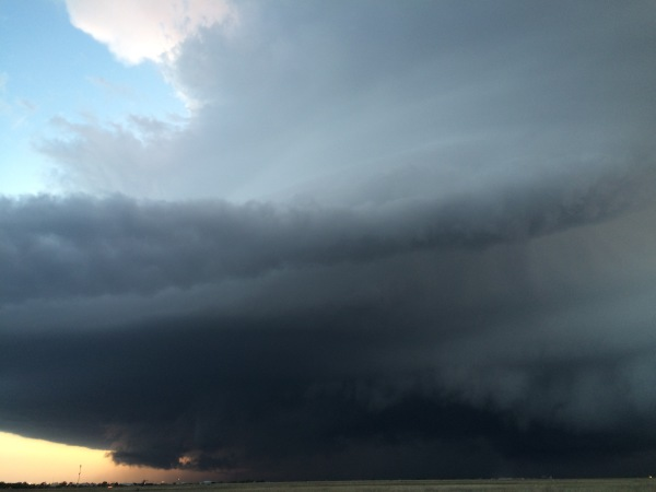 Rotating updraft of a classic supercell