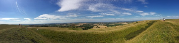 Panorama from Uffington White Horse