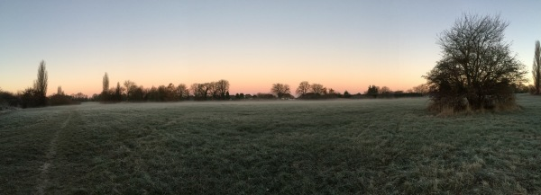 Clear and frosty morning