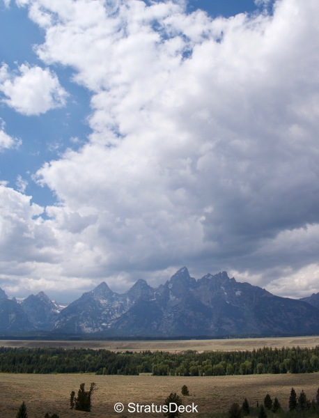 Grand Tetons cloudscape