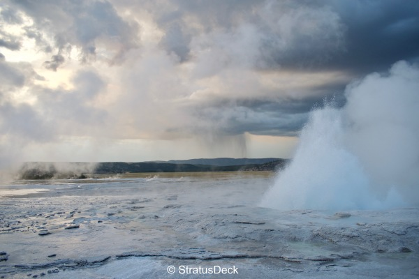 Geyser and rain shaft