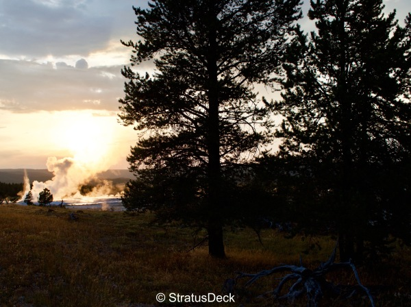 Sunset in Yellowstone