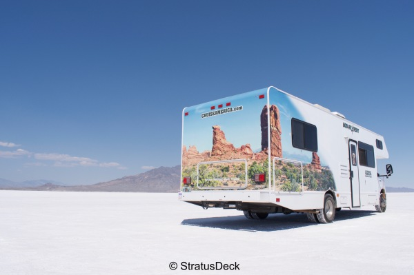 RV on the Salt Flats