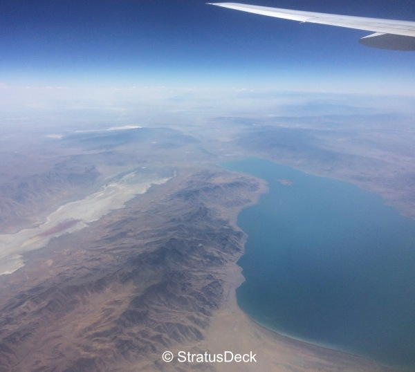 Pyramid Lake, Nevada from the air
