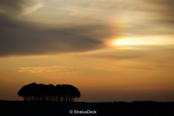 Parhelion (sundog) in an Autumnal setting