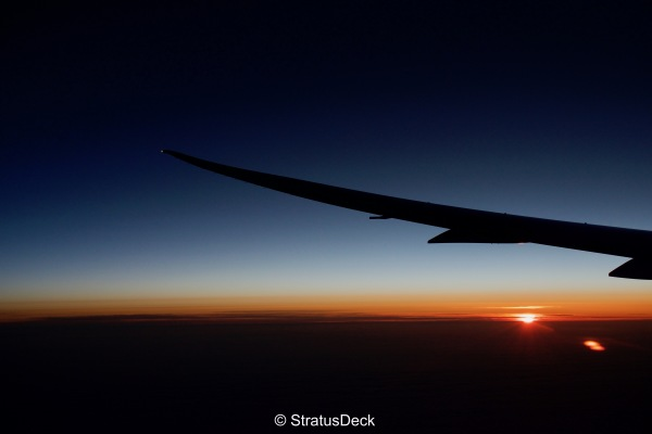 Sunrise over the North Atlantic