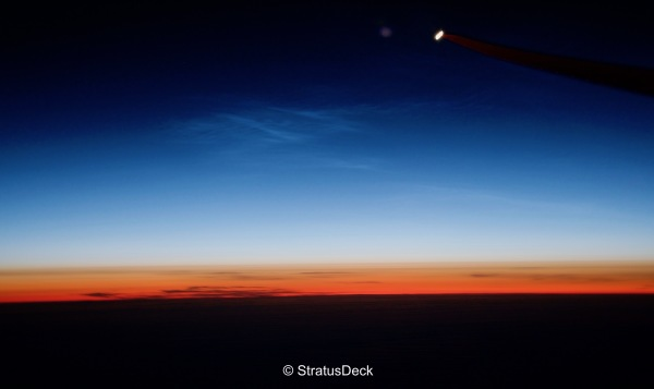 Noctilucent Clouds over the North Atlantic